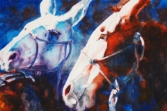CANYON MULES - 22 X 29 - WATERCOLOR - $600