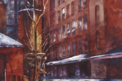 BUILDING IN THE STRIP - 36 X 29 - WATERCOLOR - $400