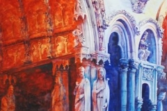 CHARTRES #2 - 29 X 36 - WATERCOLOR - $500
