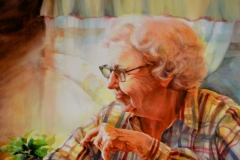 ANNA FURMAN - 29 X 36 - WATERCOLOR - SOLD