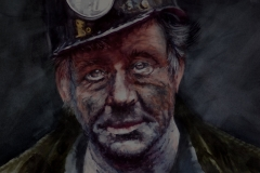 ANONYMOUS MINER - 22 X 29 - WATERCOLOR - $350