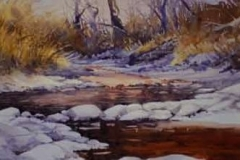 BURDICK'S STREAM #1 - 22 X 29 - WATERCOLOR - $400