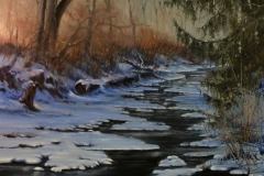 DARK WINTER WATER - 30 X 40 - OIL - $900