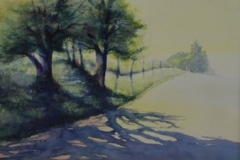 EAST LANCASTER ROAD - 22 X 29 - WATERCOLOR - $300
