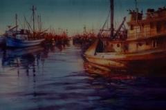 HARBOR EVENING - 22 X 29 - WATERCOLOR - $500