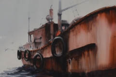 THE OLD TUG - 28 X 21 - WATERCOLOR - $200