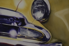 HEADLIGHT - 22 X 29 - WATERCOLOR - $400