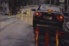 TAIL LIGHT REFLECTIONS - 22 X 18 - WATERCOLOR - $300
